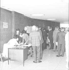 CVA Convention, 1969 ; group of people in foyer of convention [1 of 3]