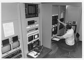 Broadcast Communication; man working in the television video centre