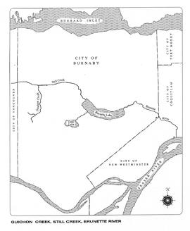 Guichon Creek, Still Creek, Brunette River, map