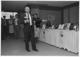 BCIT Alumni Association AGM 1987; John Leech (Alumni Association President)