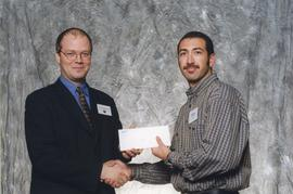 BCIT Alumni Association Award, Oct. 27, 1999; Scott Pearse, presented by Kazamir Falconbridge, Pr...