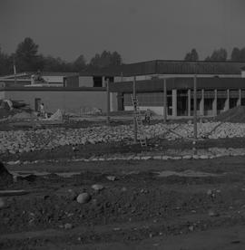 Construction of a multi-purpose building at BCIT; construction workers working [2 of 2]