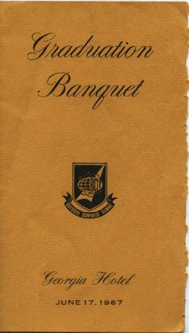 Graduation banquet BCIT; Georgia Hotel, June 17, 1967; program and menu