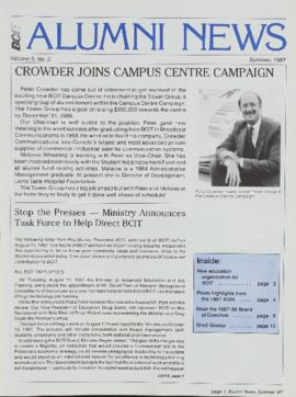 BCIT Alumni Association Newsletter 1987 Summer BCIT Alumni News