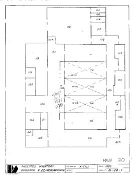 Facilities inventory building 20, New welding, floor plan, 1983