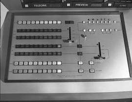 British Columbia Institute of Technology Broadcasting ; 1960s ; control board for a Viscount vide...