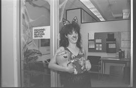 Personnel/Employee Services staff dressed as a tiger [1 of 5 photographs]