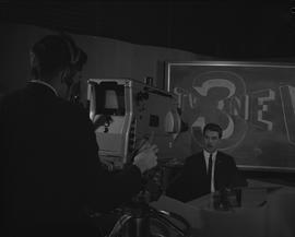 BCIT Broadcast and Television, 1966; camera man and television host on a television set