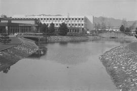Guichon Creek and BCIT campus buildings