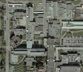 Orthophotograph of BCIT Burnaby campus SW and SE, 2004