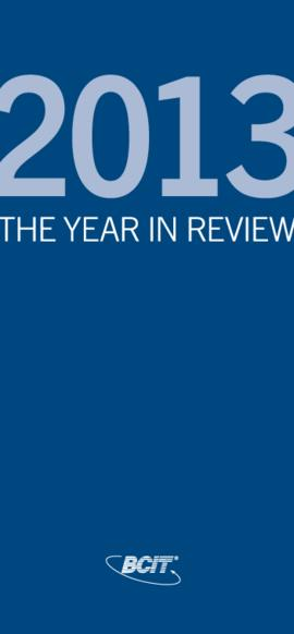 British Columbia Institute of Technology 2013: The year in review
