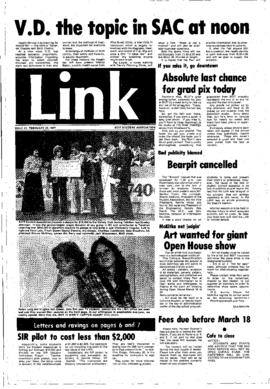 The Link Newspaper 1977-02-23