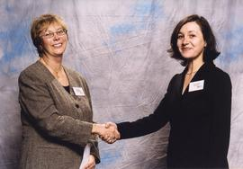 BCIT Alumni Association Entrance Awards, Nov. 7, 2001; Tamara Slobogean, presented by Brenda Dumo...