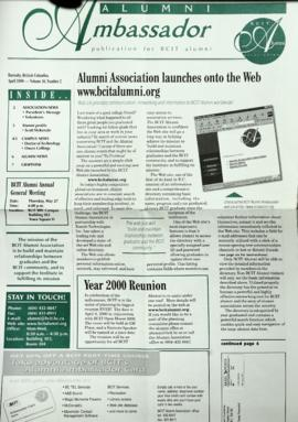 BCIT Alumni Association Newsletter 1999-04 Alumni Ambassador