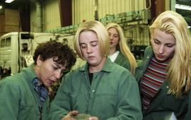 BCIT women in trades; heavy duty, students in uniforms using mechanical tools and equipment [5 of...