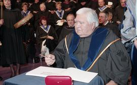 Robert (Bob) George receiving an Honorary Doctorate of Technology; Elder Advisor, BCIT [11 of 19 ...