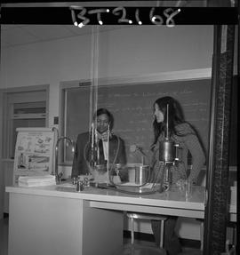 BCVS image of an instructor and a student studying the physics of steam in a Basic Training Skill...