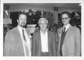 BCIT Alumni Association AGM 1988; Ron Hyde, BCIT Instructor (centre) with two others