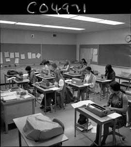 BC Vocational School Commercial Program; students typing (photograph 3 of 5)