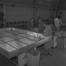Sheet metal, 1968; classroom of students working in the sheet metal shop [3 of 3]