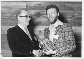 Alumni Awards, 1979, event photograph; recipient Russell Greenall