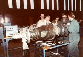 Students with propeller engine