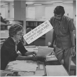 British Columbia Institute of Technology - Library - Librarian Sheila Ferry and student - [c.197?]
