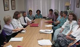 Health part-time, Hemodialysis, St. Paul's Hospital, meeting, people around a large table [1 of 7...