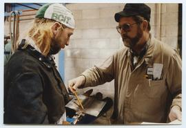 BCIT Welding Trades - Steel Trades - instructor Larry Cox [1 of 4 photographs]
