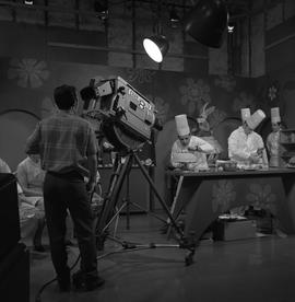BCVS at Channel 8 TV; television set where chefs are decorating cakes