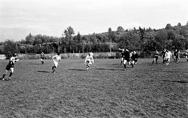 BCIT's Cougar Rugby sports team playing a game on the BCIT sports field. BCIT Recreation [2 of 11...