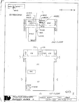 Facilities inventory building no. 3, floor plan, 1982