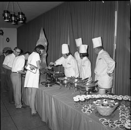 BC Vocational School Food Training Centre ; Cook Training Course students serving guests in the d...