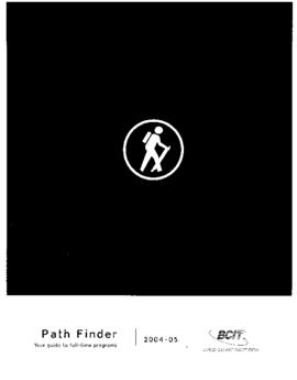 Path Finder. Your guide to full time programs. Full-time calendar 2004-05