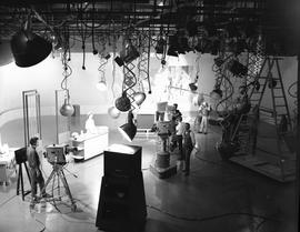 BCIT Broadcast and Television, 1964; television studio [1 of 3]