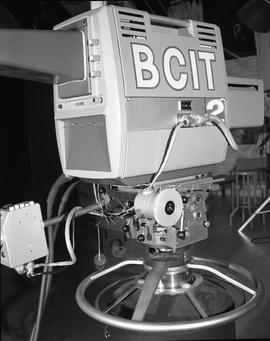 British Columbia Institute of Technology Broadcasting ; 1960s ; side/rear view of a teleprompter ...
