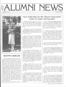 BCIT Alumni Association Newsletter 1985 Summer BCIT Alumni News