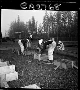 B.C. Vocational School; Carpentry Trades students building foundation forms with instructor (6 of 6)
