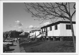 British Columbia Institute of Technology - Burnaby campus - exterior photograph of some portables...