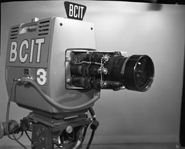 British Columbia Institute of Technology Broadcasting ; 1960s ; front view of a television video ...