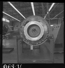 BC Vocational School image of aircraft engine in the hangar [1 of 2 photographs]