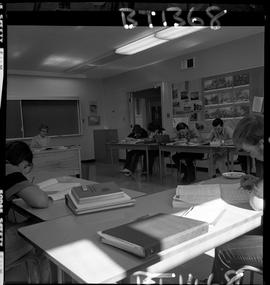 B.C. Vocational School image of an instructor and students in a BTSD Basic Training program class...
