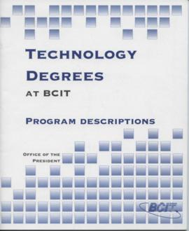 Technology Degrees at BCIT: Program Descriptions