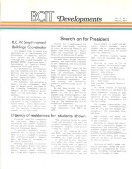 BCIT Developments, vol. 3, no. 7, 1974-03