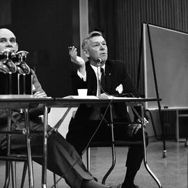 CVA Convention, 1969 ; man sitting at a table and talking into a microphone