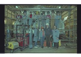 Aluminum welding students, 1998, group photograph