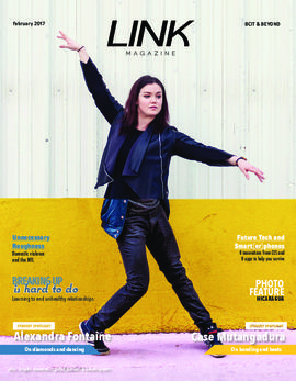 Link magazine February 2017 BCIT & Beyond; Alexandra Fontaine, cover