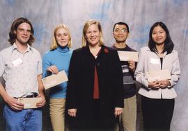 BCIT Alumni Association Award, Nov. 7, 2001; Julie Koel, Director, BCIT Alumni Assoc. Board of Di...