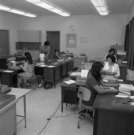 BC Vocational School Commercial Program; students typing and instructor [2 of 2]