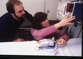 BCIT School of Health Sciences, nurses with monitoring device, ca. 1987